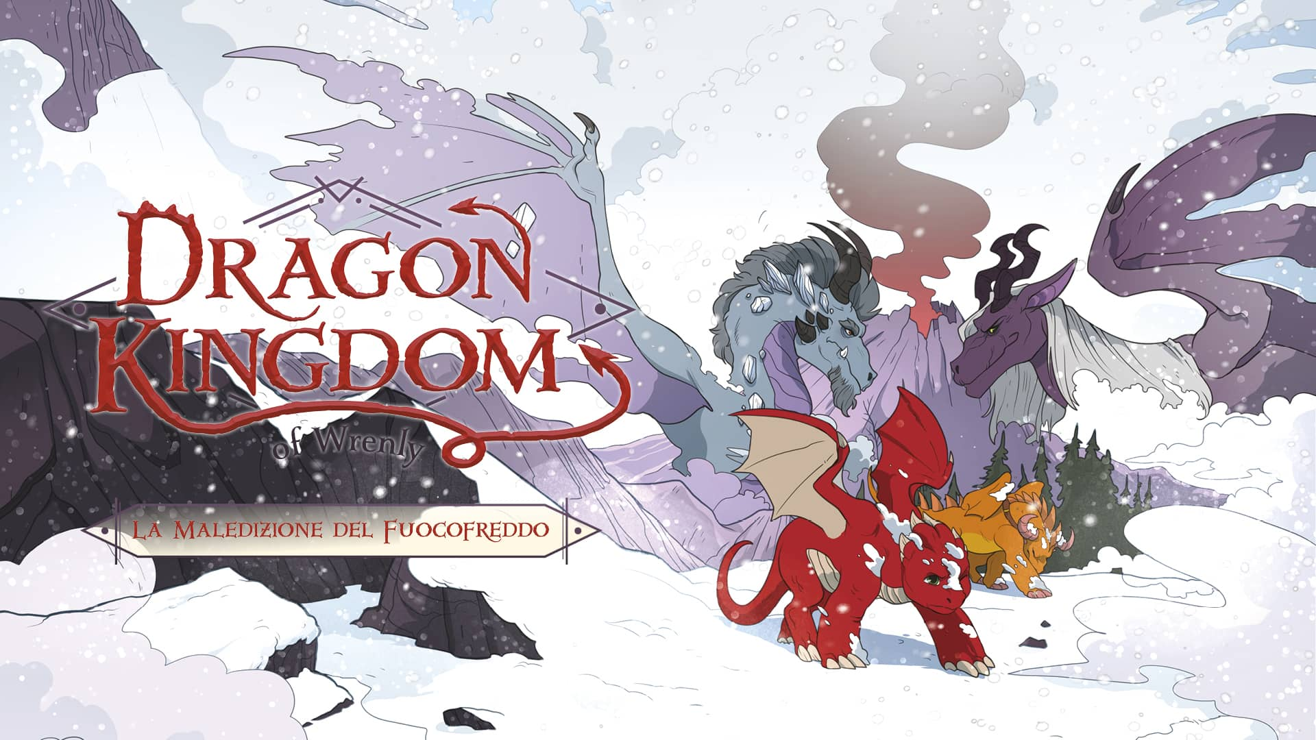 Dragon Kingdom of Wrenly graphic novel fantasy con draghi