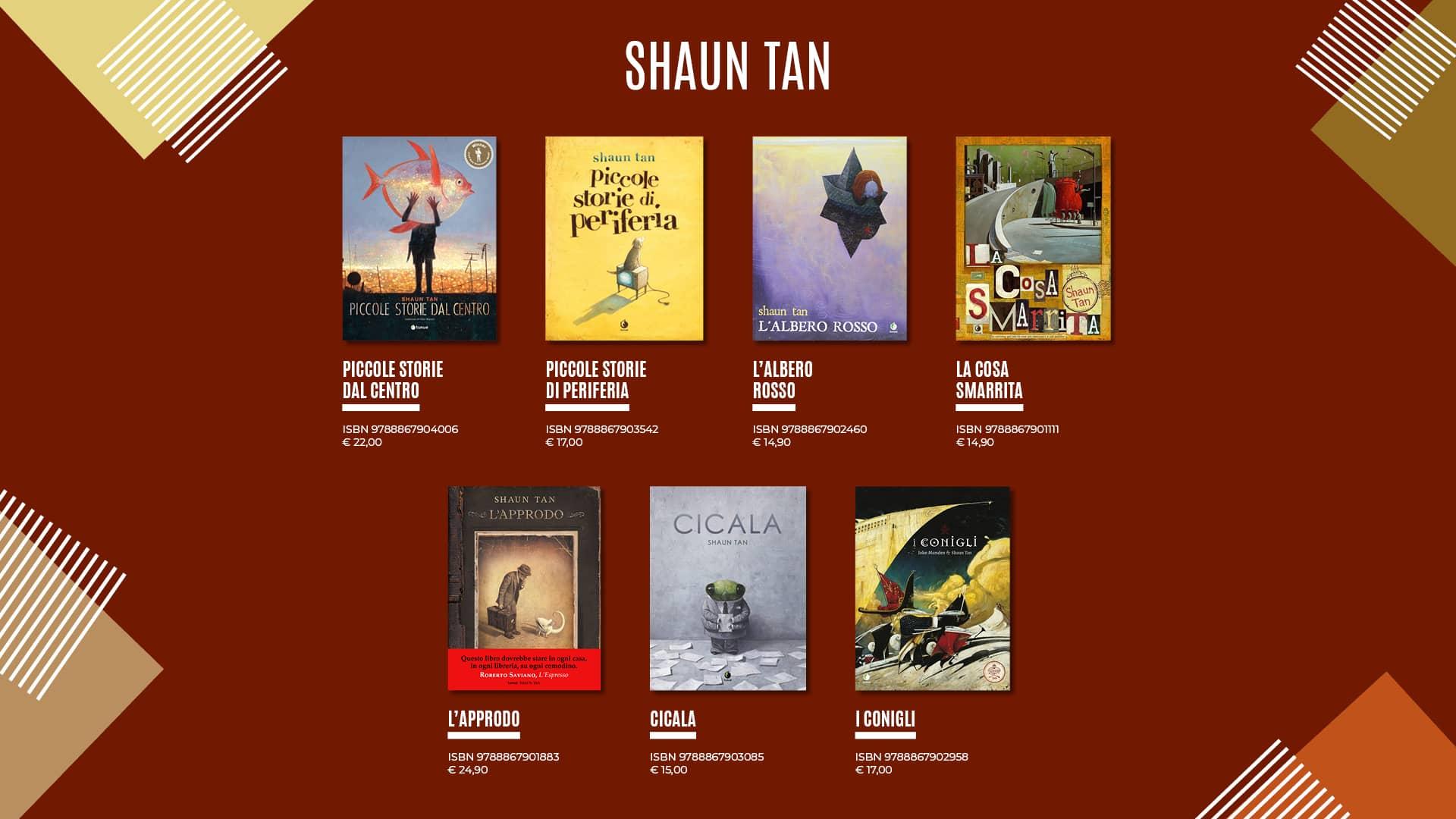 Shaun Tan selezione titoli: Approdo, Piccole storie dal centro
