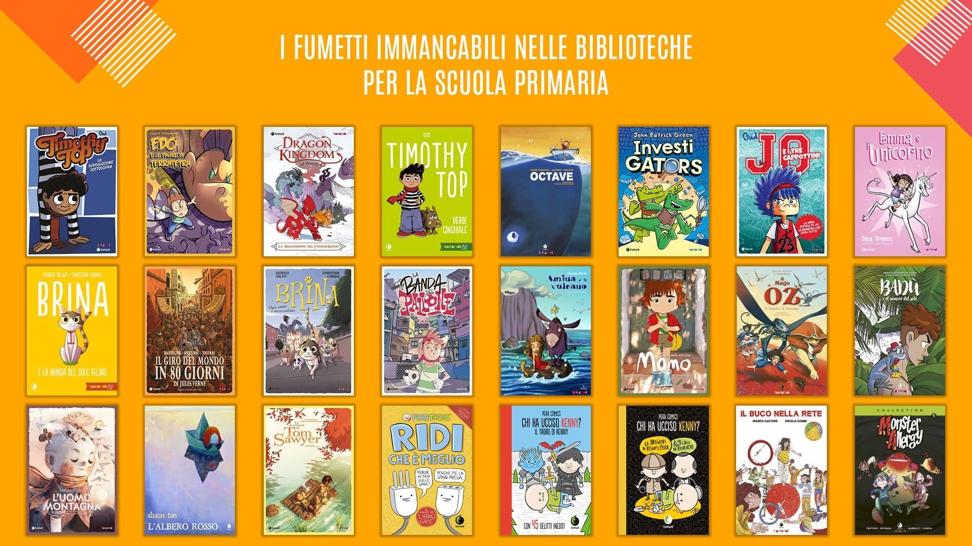 I fumetti immancabili nelle biblioteche scuola primaria