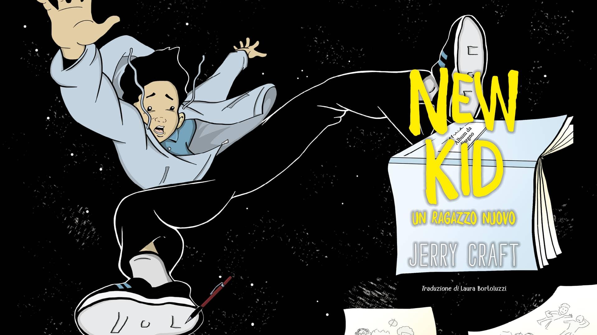 New Kid. L'avventura di iniziare una nuova scuola. Scuola d'arte. Neri integrazione graphic novel